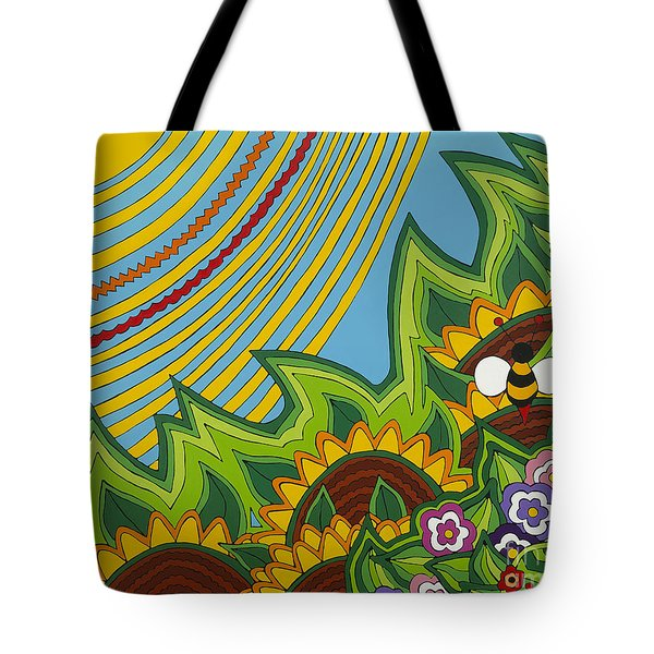 Sunflowers Tote Bag by Rojax Art