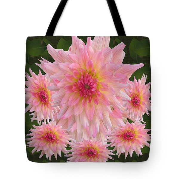 Abstract Flower Floral Photography And Digital Painting Combination Mixed Media By Navinjoshi       Tote Bag