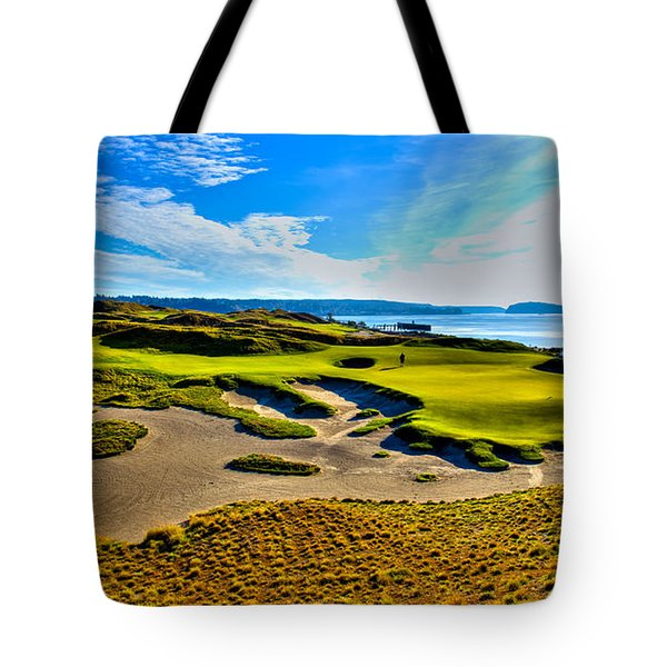 #15 At Chambers Bay Golf Course - Location Of The 2015 U.s. Open Tournament Tote Bag