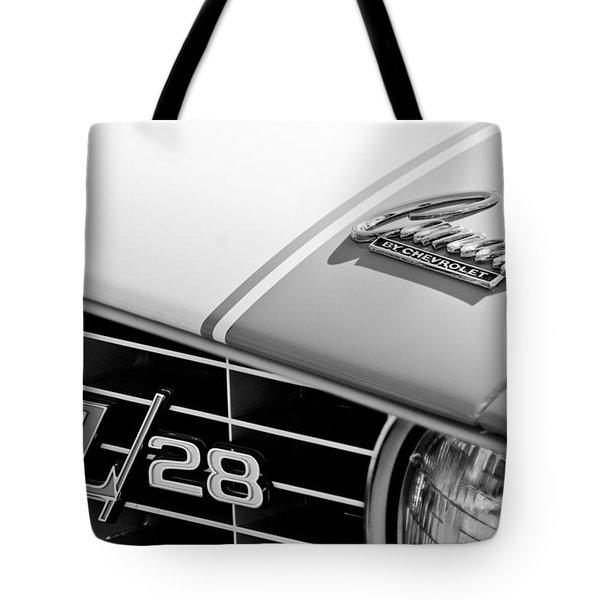 1969 Chevrolet Camaro Z-28 Emblem Tote Bag by Jill Reger