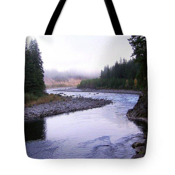 A Mountain Stream Tote Bag by J D Owen