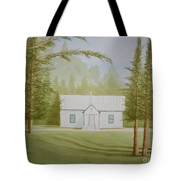 Tote Bag featuring the painting A North Carolina Church by Stacy C Bottoms