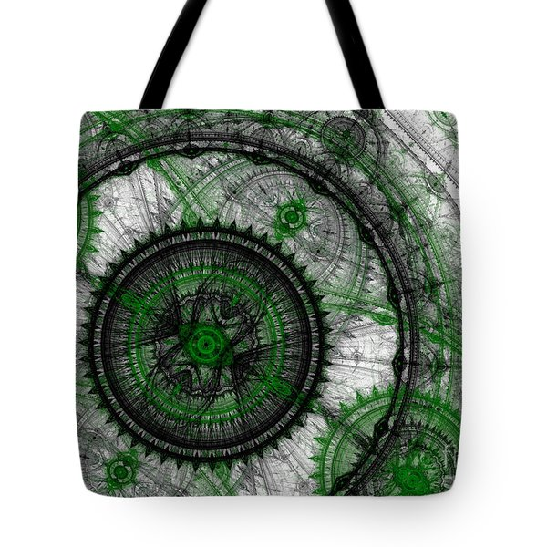 Abstract Mechanical Fractal Tote Bag