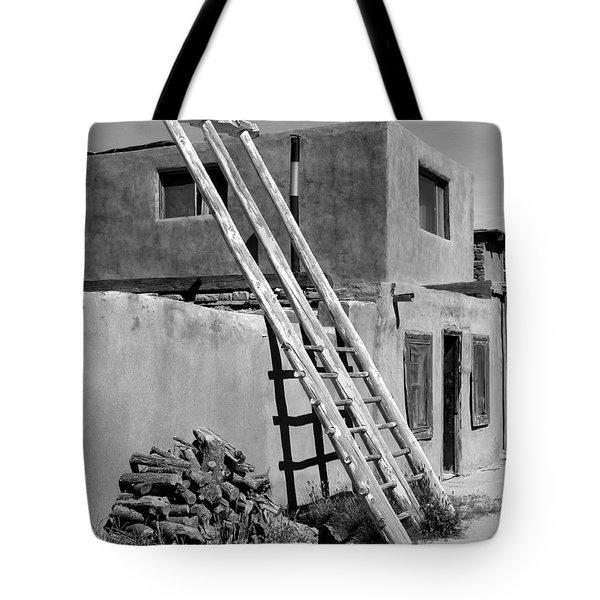Acoma Pueblo Adobe Homes Tote Bag by Mike McGlothlen