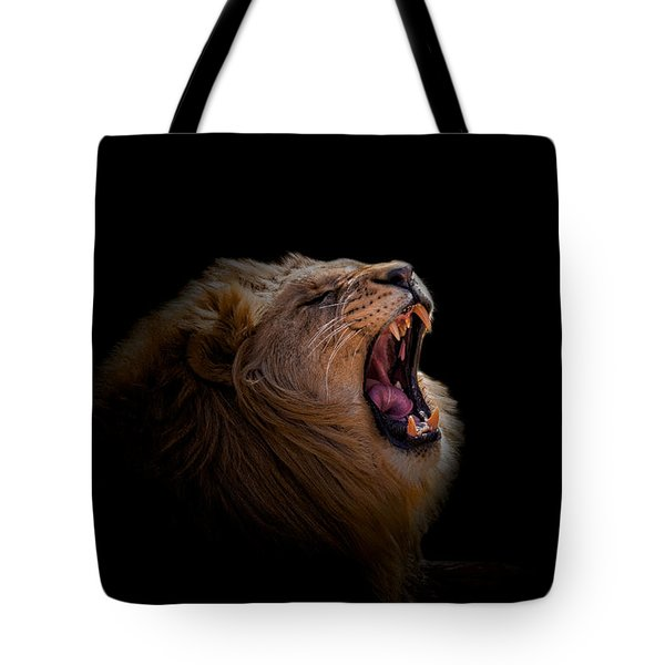 Tote Bag featuring the photograph African Lion by Peter Lakomy