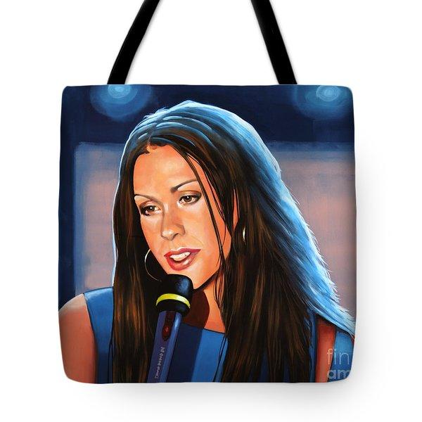 Alanis Morissette  Tote Bag by Paul Meijering
