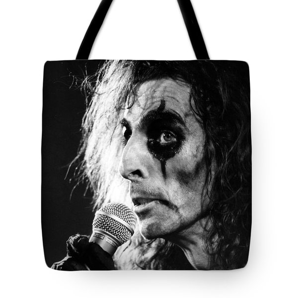Alice Cooper 1979 Tote Bag by Chris Walter