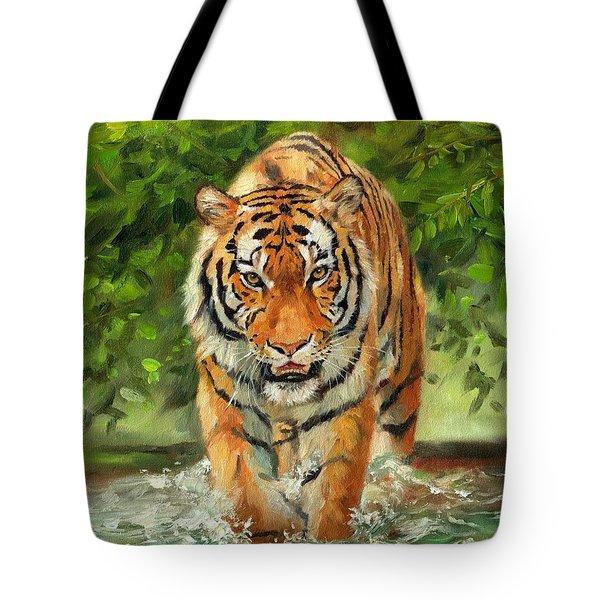 Amur Tiger Painting Tote Bag
