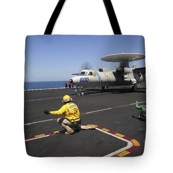 An E-2c Hawkeye Launches Tote Bag by Stocktrek Images