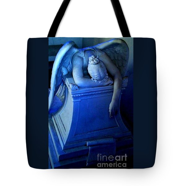 Angelic Sorrow Tote Bag by Michael Hoard