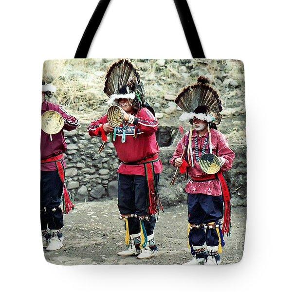 Apache Crown Dancers Tote Bag by Juls Adams