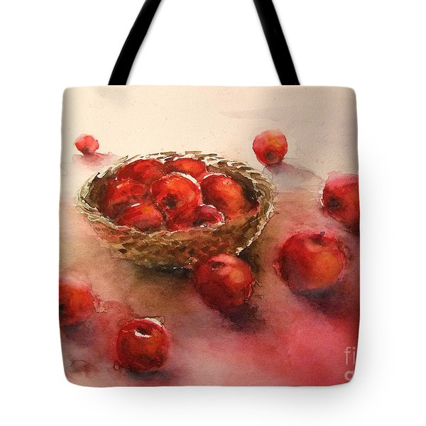 Apples  Apples Tote Bag by Yoshiko Mishina