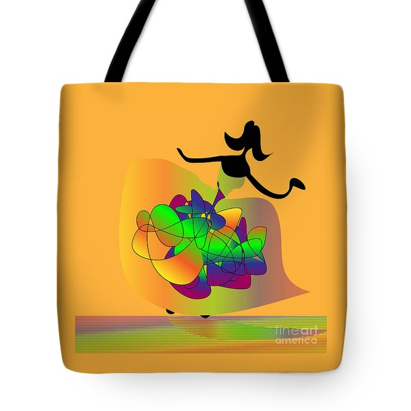 Tote Bag featuring the digital art At The Prom by Iris Gelbart