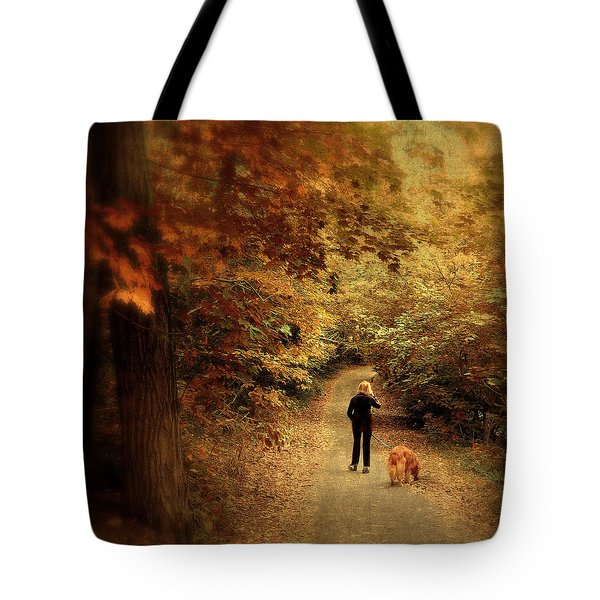 Autumn Stroll Tote Bag by Jessica Jenney