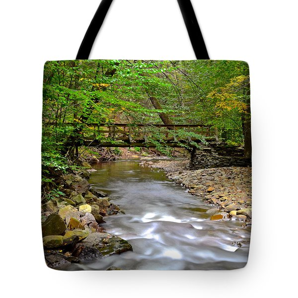 Babbling Brook Tote Bag by Frozen in Time Fine Art Photography