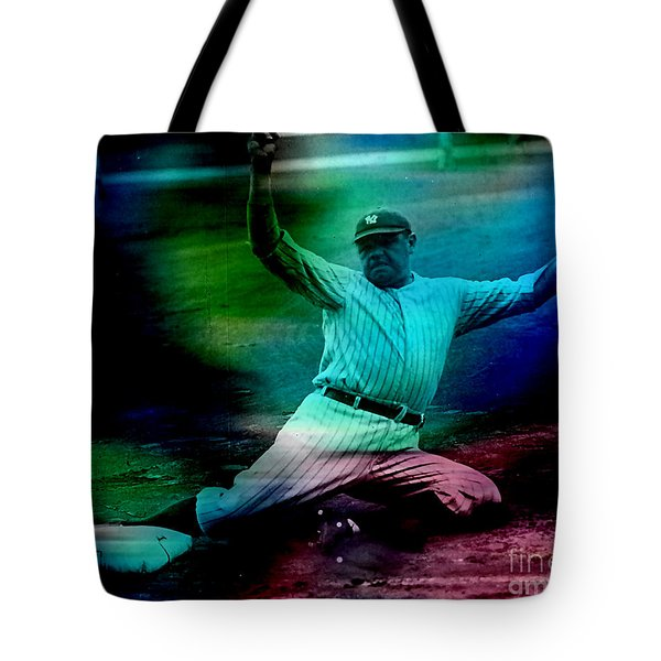 Babe Ruth Tote Bag by Marvin Blaine