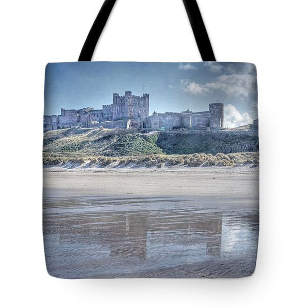 Tote Bag featuring the photograph Bamburgh Castle 2 by David Birchall