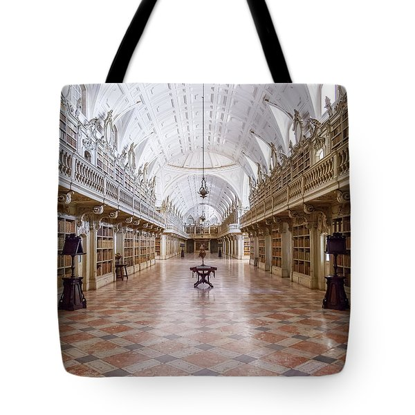 Baroque Library  Tote Bag by Jose Elias - Sofia Pereira