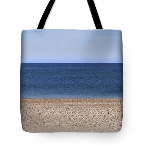 Color Bars Beach Scene Tote Bag
