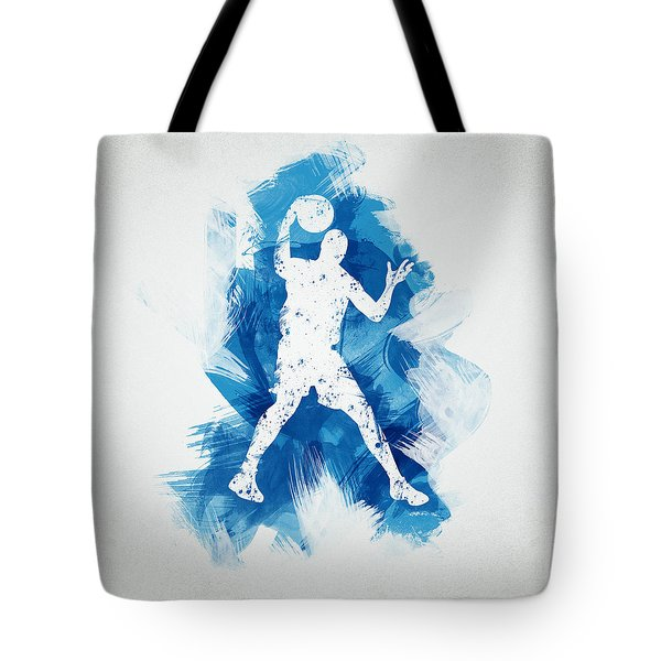 Basketball Player Tote Bag