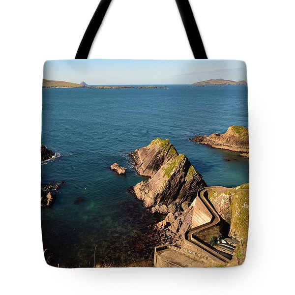 Tote Bag featuring the photograph Blasket Islands by Barbara Walsh
