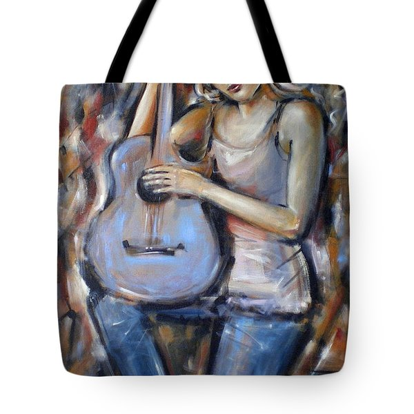 Blue Guitar 010709 Tote Bag by Selena Boron