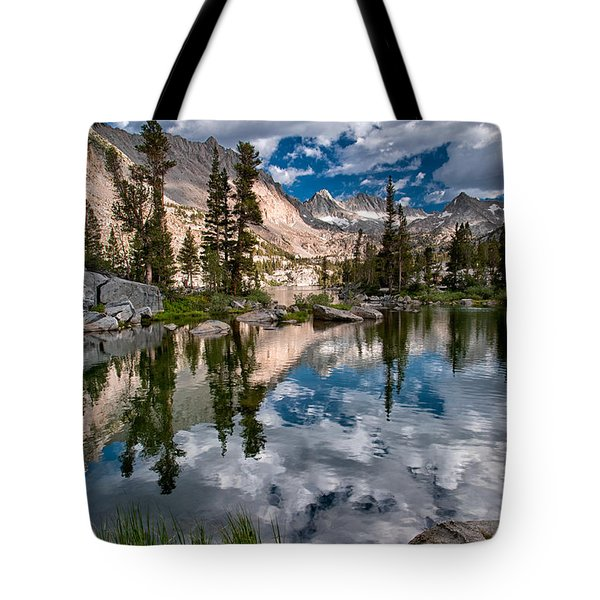 Blue Lake Tote Bag by Cat Connor