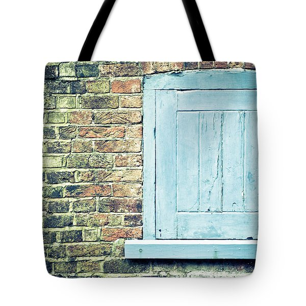 Blue Shutter Tote Bag
