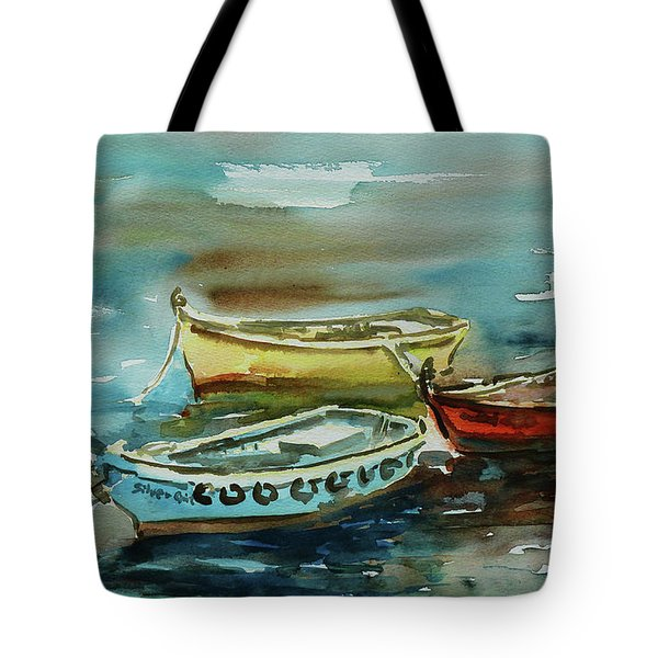 3 Boats II Tote Bag by Xueling Zou