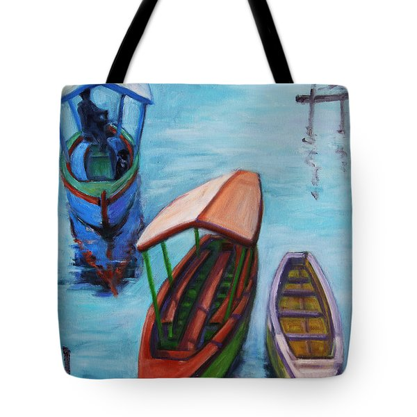 3 Boats IIi Tote Bag by Xueling Zou