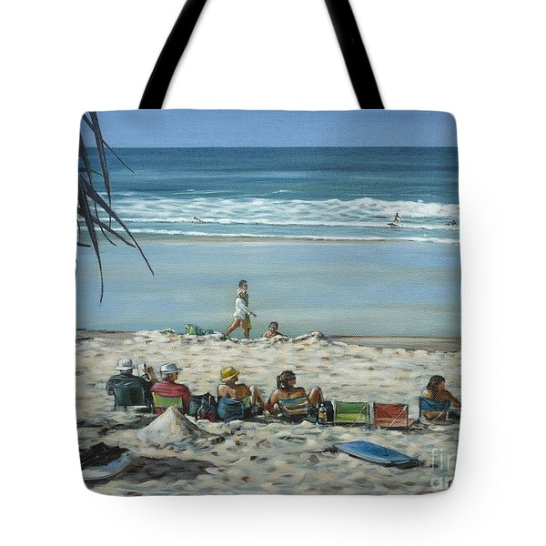 Burleigh Beach 220909 Tote Bag by Selena Boron