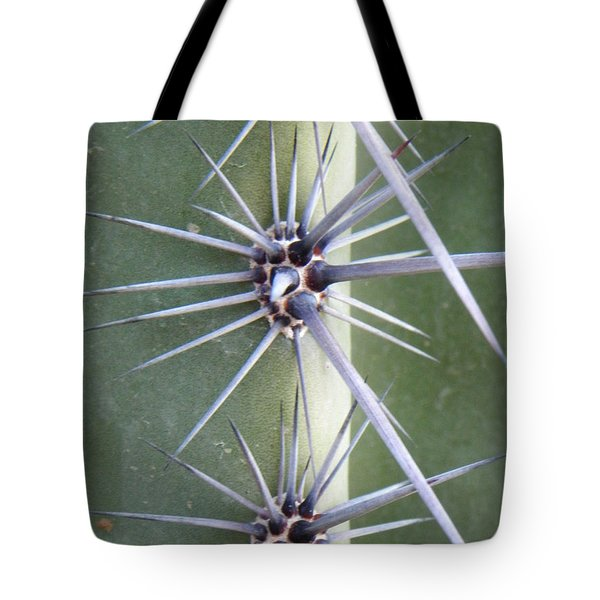 Tote Bag featuring the photograph Cactus Thorns by Deb Halloran