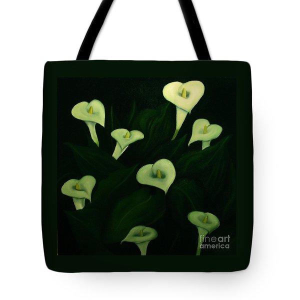 Calla Lilies Tote Bag by John Stuart Webbstock