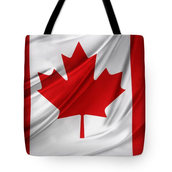 Canadian Flag  Tote Bag by Les Cunliffe