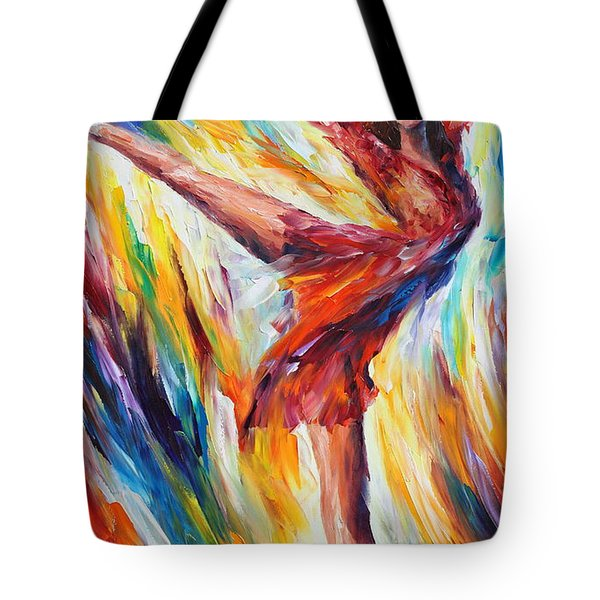 Candle Fire Tote Bag by Leonid Afremov