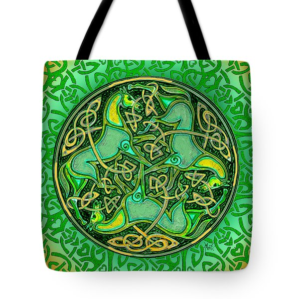3 Celtic Irish Horses Tote Bag