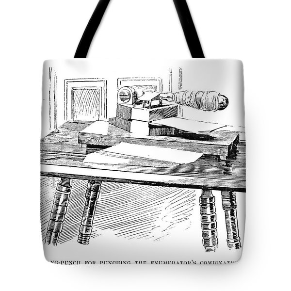 Census Machine, 1890 Tote Bag
