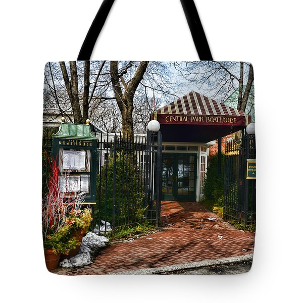 Central Park Boathouse Tote Bag by Paul Ward