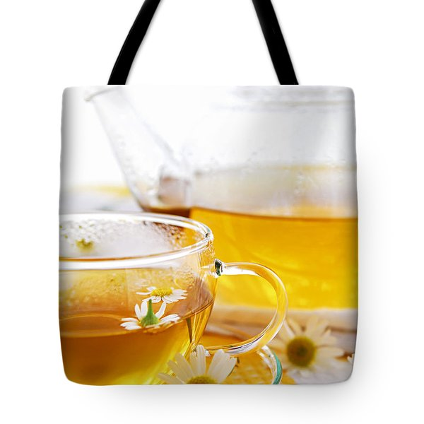 Chamomile Tea Tote Bag by Elena Elisseeva