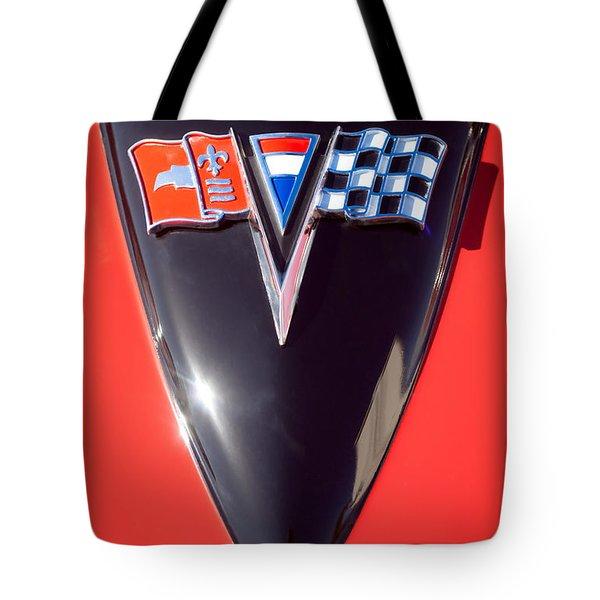 Chevrolet Corvette Hood Emblem Tote Bag by Jill Reger