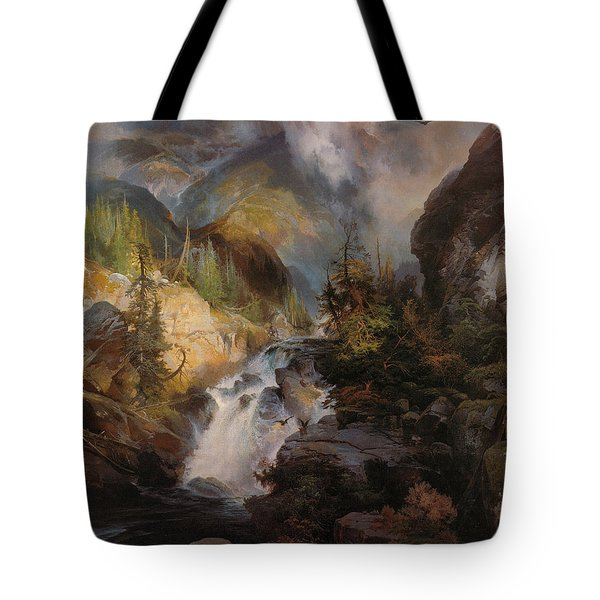 Children Of The Mountain Tote Bag by Thomas Moran