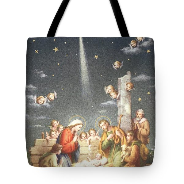Christmas Card Tote Bag by French School