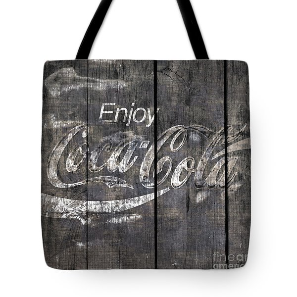Coca Cola Sign Tote Bag by John Stephens