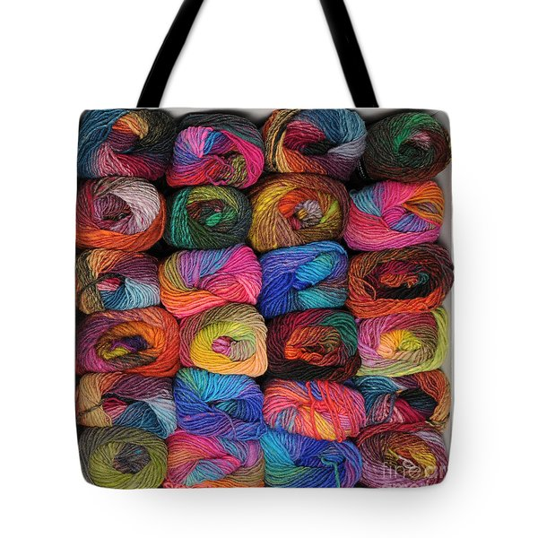 Colorful Knitting Yarn Tote Bag