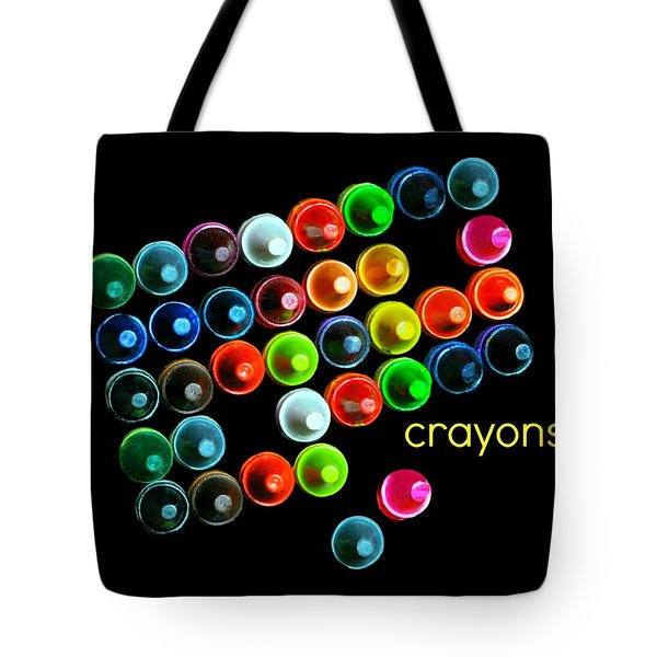 Colorful Wonderful Crayons Tote Bag by Diana Angstadt