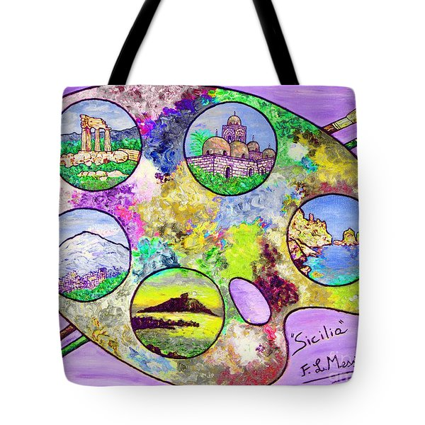 Sicily On A Palette Tote Bag