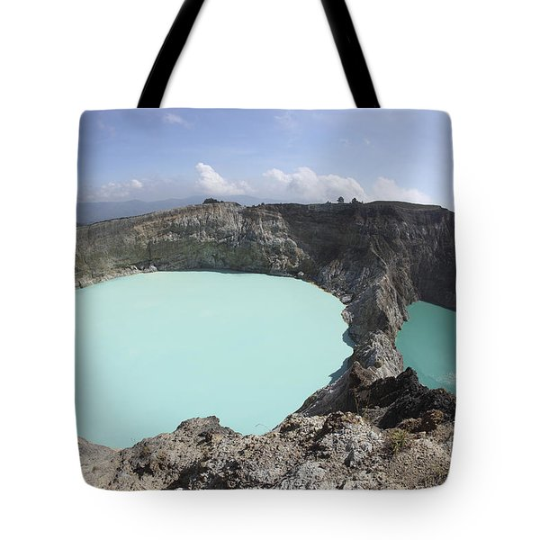 Colourful Crater Lakes Of Kelimutu Tote Bag by Richard Roscoe