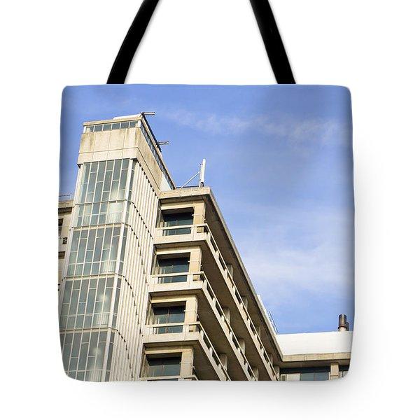Concrete Building Tote Bag by Tom Gowanlock