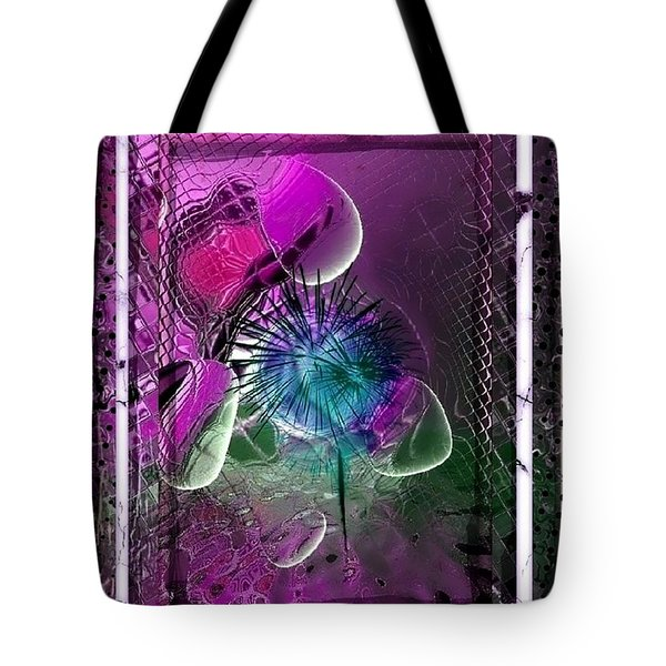 Tote Bag featuring the digital art 3 D Drops by Nico Bielow