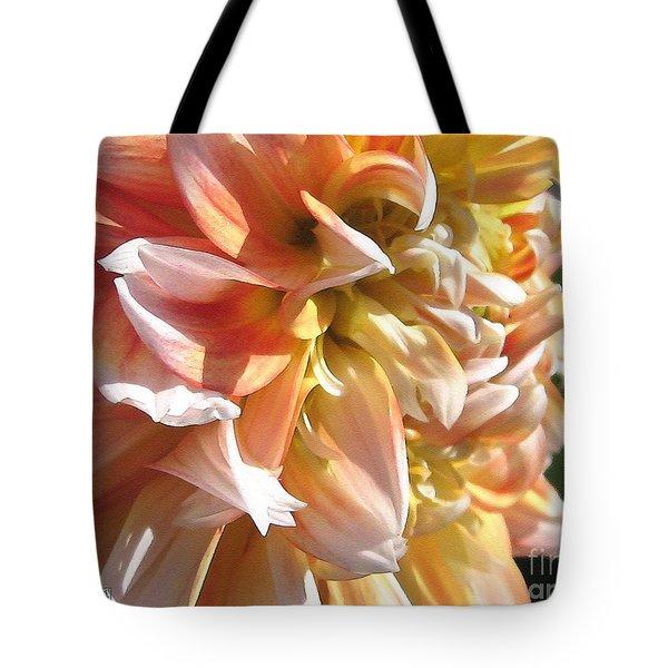 Dahlia Named Peaches-n-cream Tote Bag by J McCombie